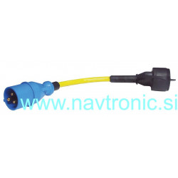 ADAPTER IEC60309 3-POLE TO SCHUKO+COVER